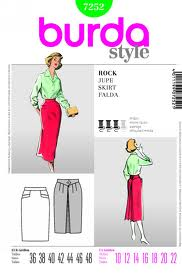Burda skirt pattern
